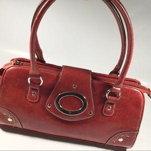 Baguette hand bag red purse